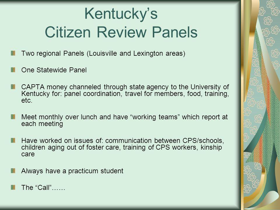 Kentucky's Citizen Review Panels