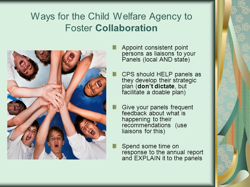 Ways for the Child Welfare Agency to Foster Collaboration