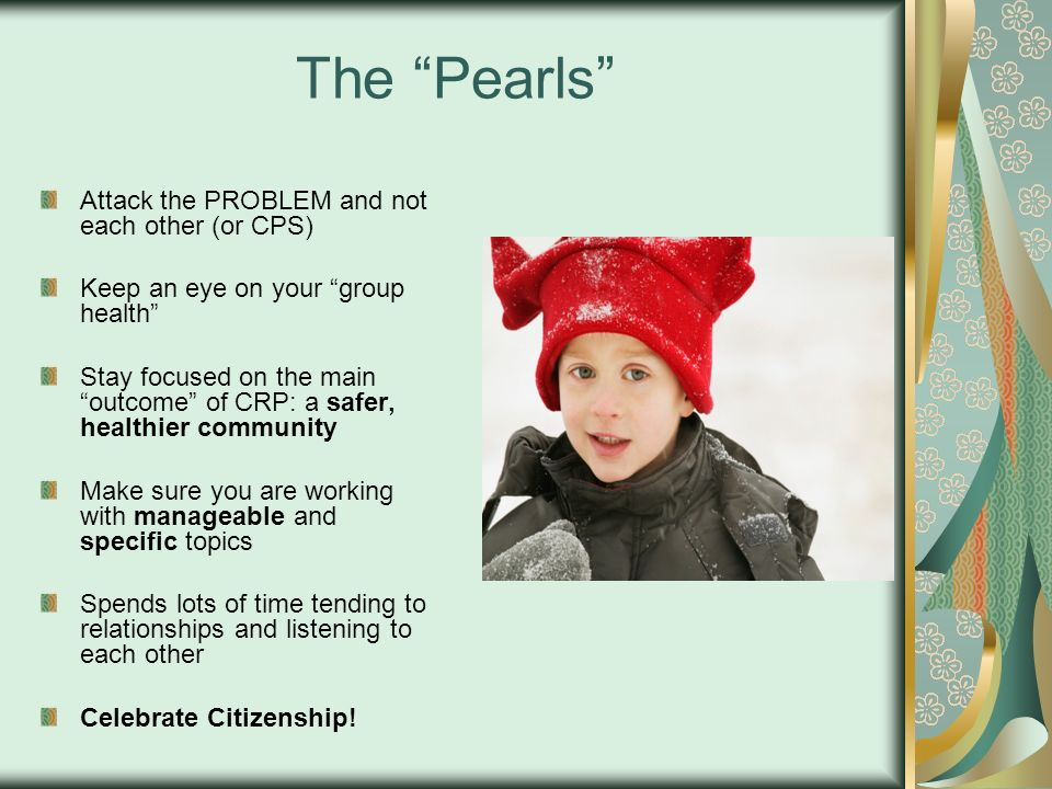 The Pearls Attack the PROBLEM and not each other (or CPS)