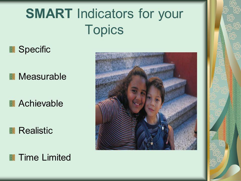 SMART Indicators for your Topics