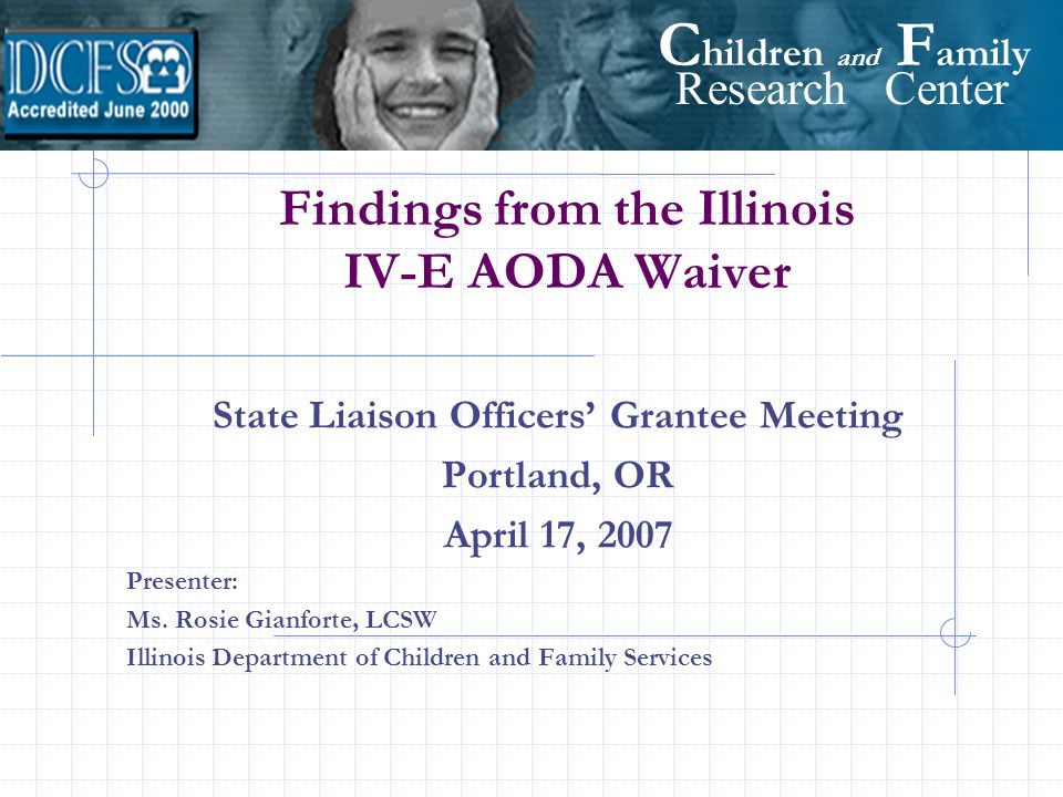Findings from the Illinois IV-E AODA Waiver