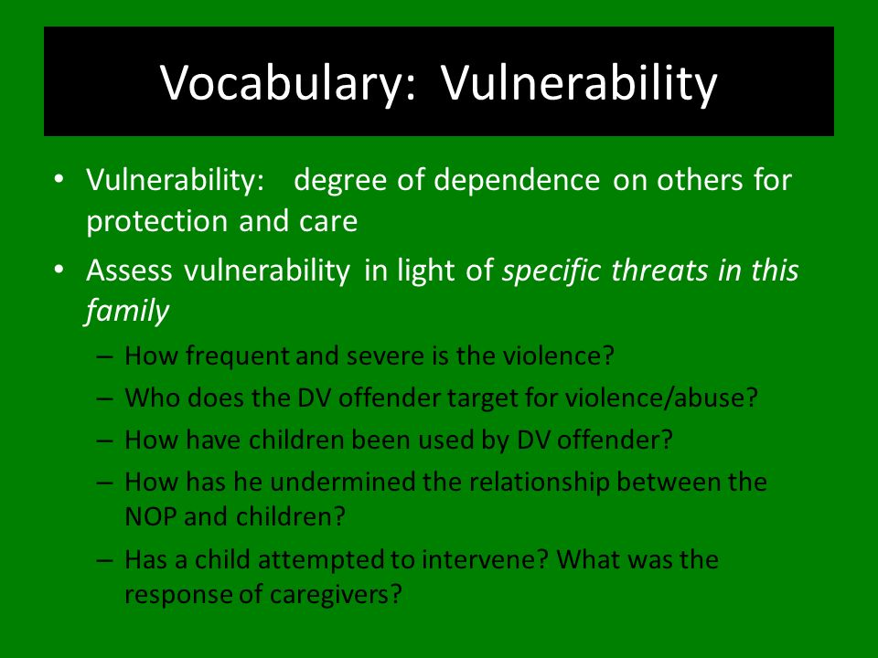 Vocabulary: Vulnerability