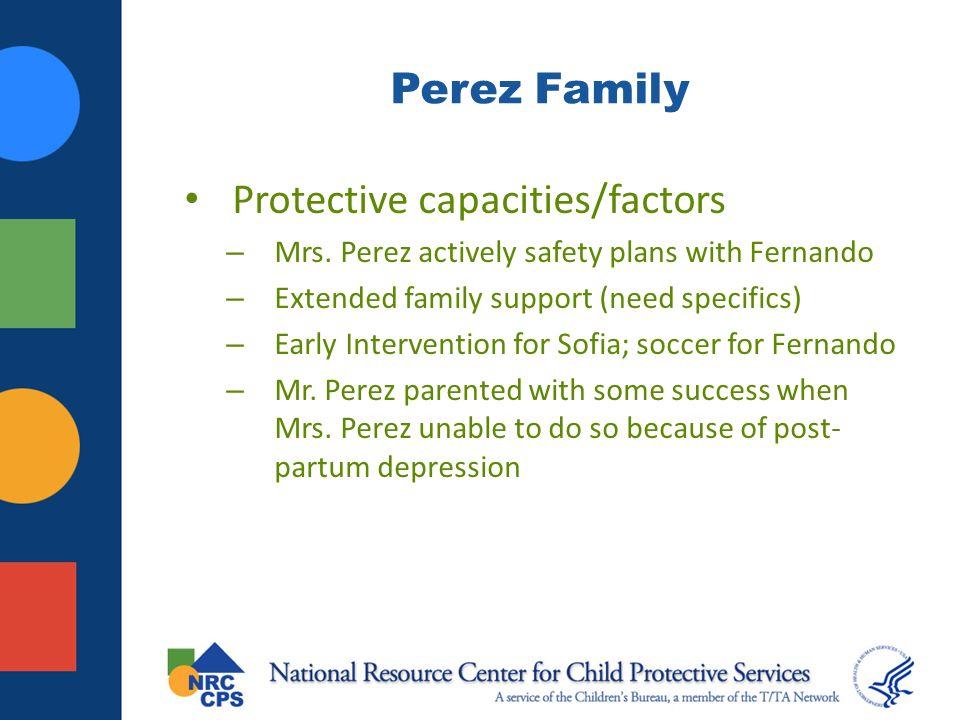 Protective capacities/factors
