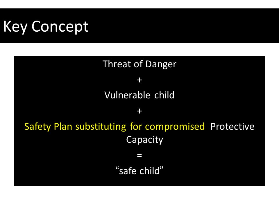 Safety Plan substituting for compromised Protective Capacity