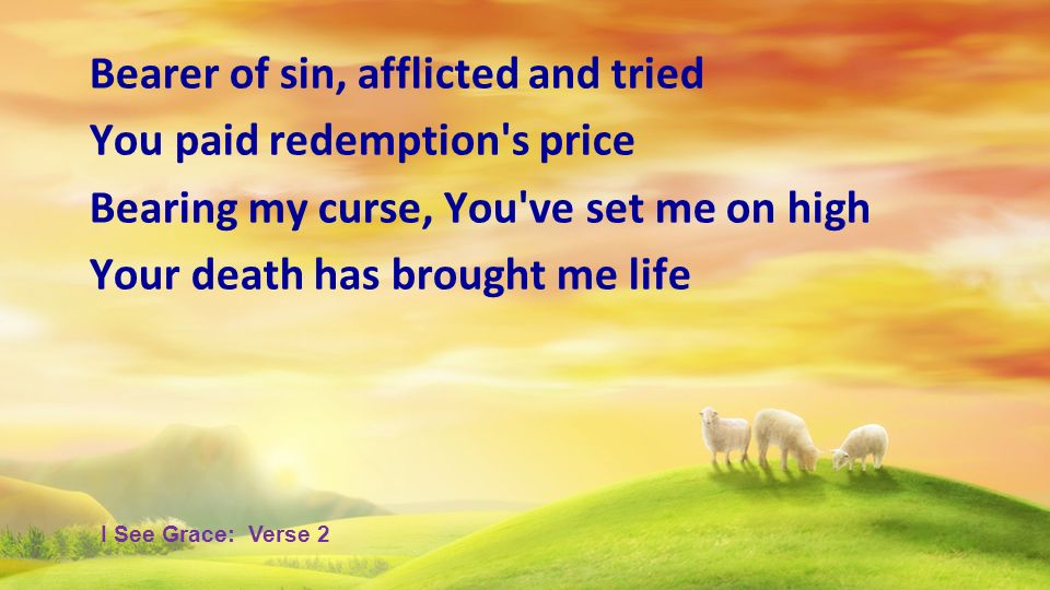 Bearer of sin, afflicted and tried You paid redemption s price