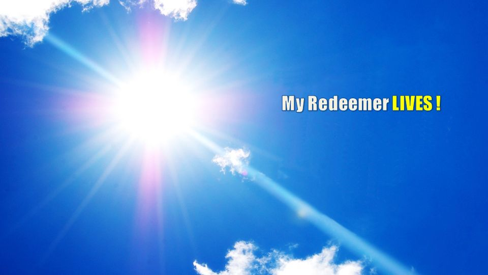 My Redeemer LIVES !