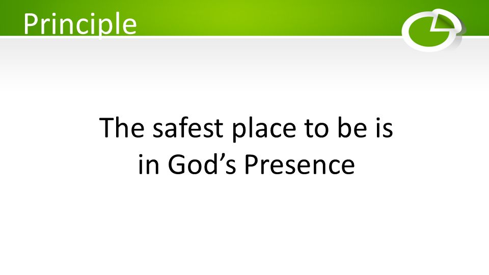 The safest place to be is