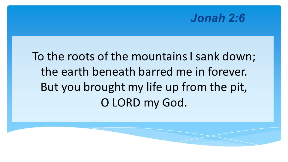 To the roots of the mountains I sank down;