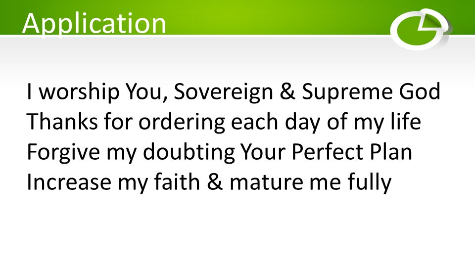 Application I worship You, Sovereign & Supreme God