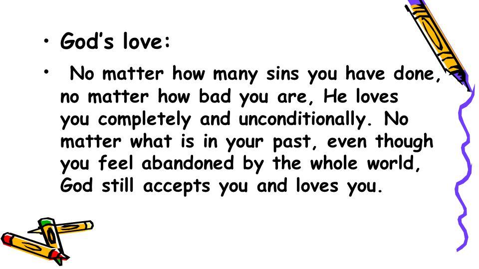 God's love: