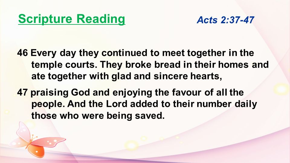 Scripture Reading Acts 2:37-47