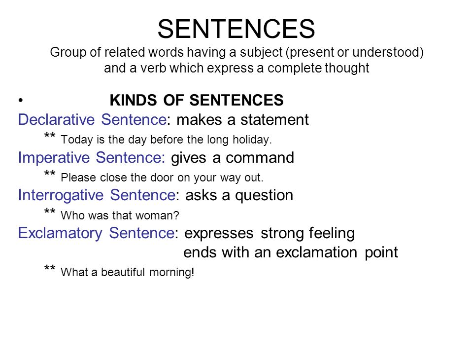 A Group Of Words Having A Subject And A Verb 87