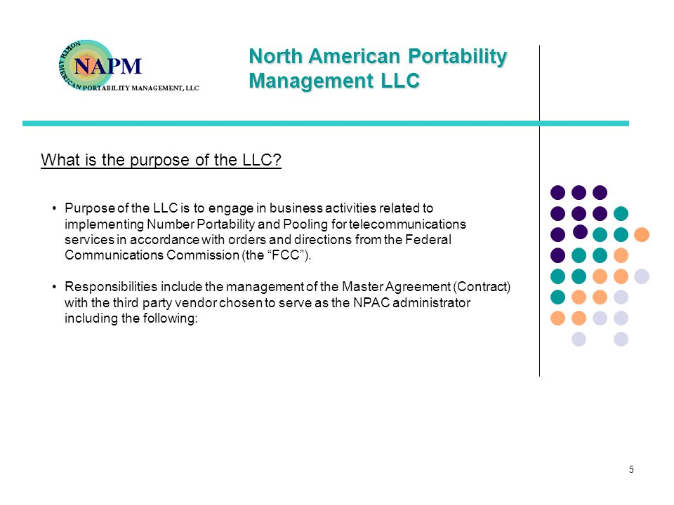 What is the purpose of the LLC