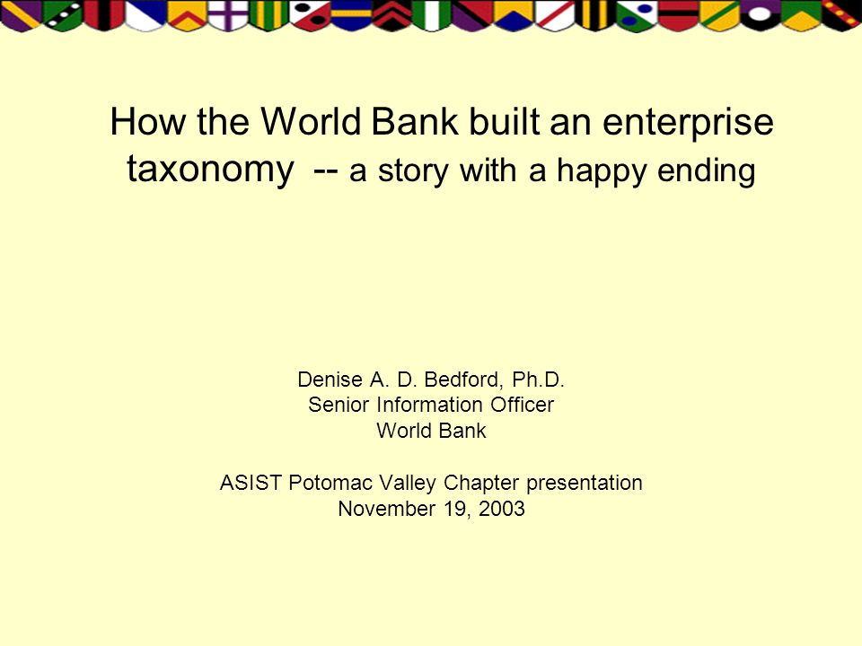 How the World Bank built an enterprise taxonomy -- a story with a happy ending