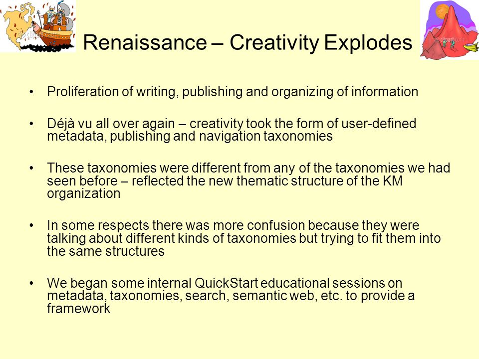 Renaissance – Creativity Explodes