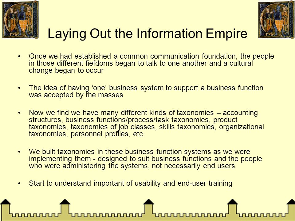 Laying Out the Information Empire