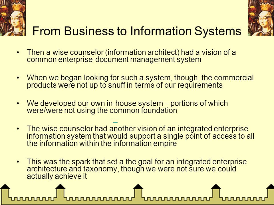 From Business to Information Systems