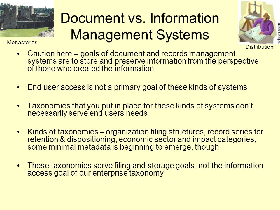 Document vs. Information Management Systems