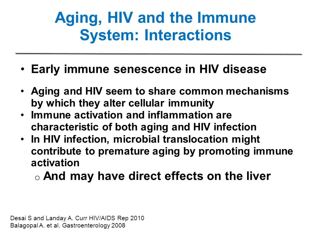 Aging, HIV and the Immune System: Interactions
