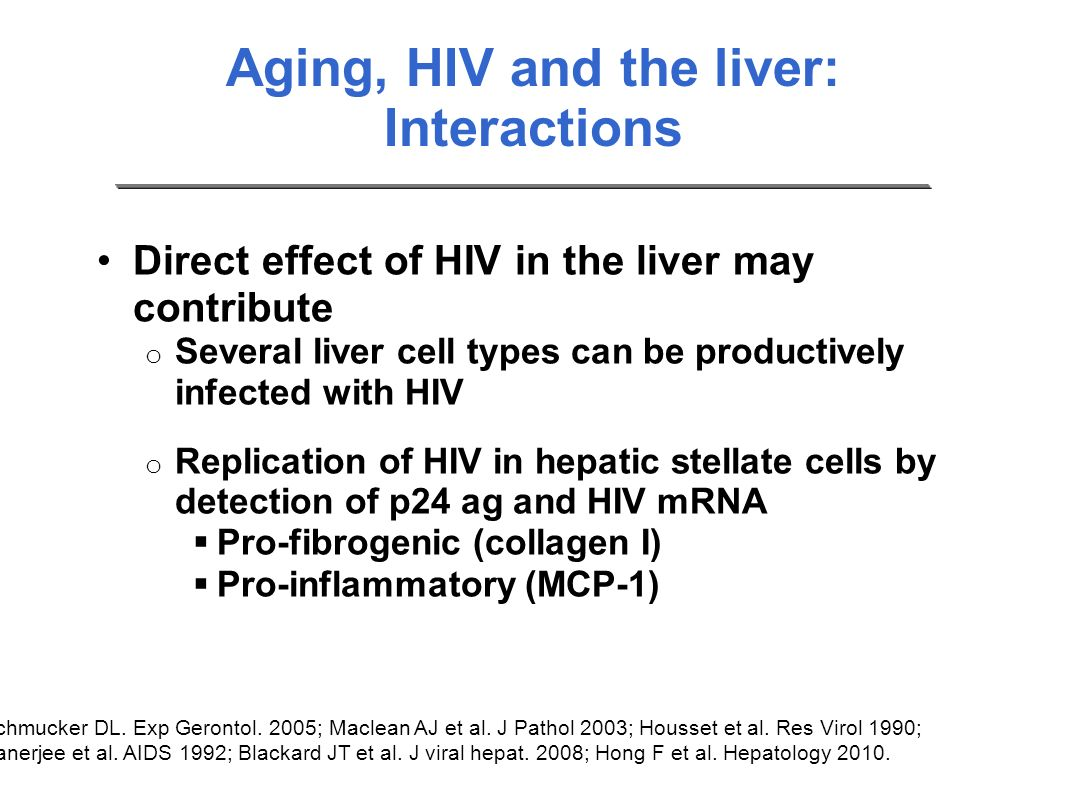 Aging, HIV and the liver: Interactions