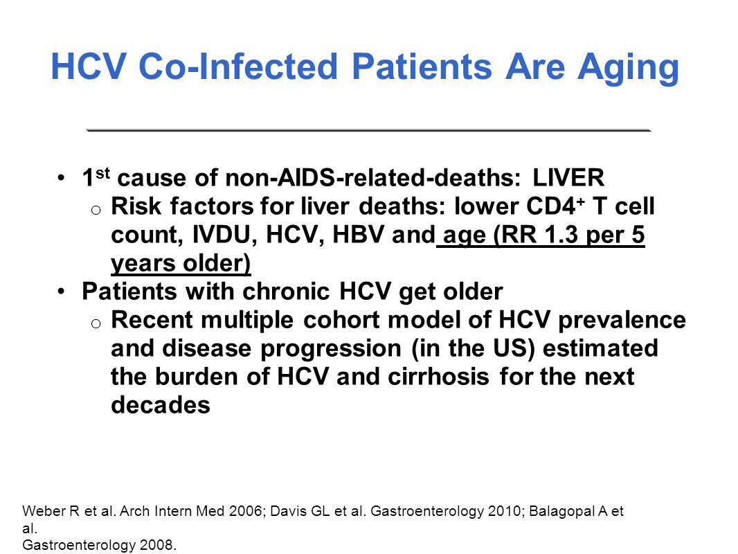 HCV Co-Infected Patients Are Aging