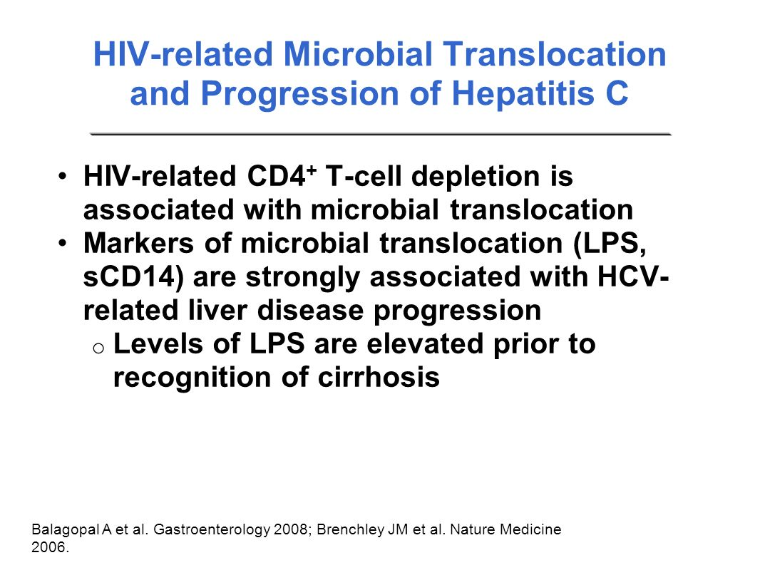 HIV-related Microbial Translocation and Progression of Hepatitis C