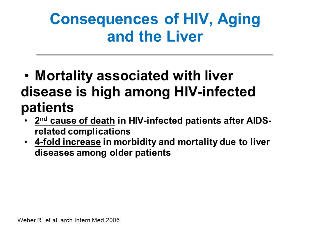 Consequences of HIV, Aging and the Liver