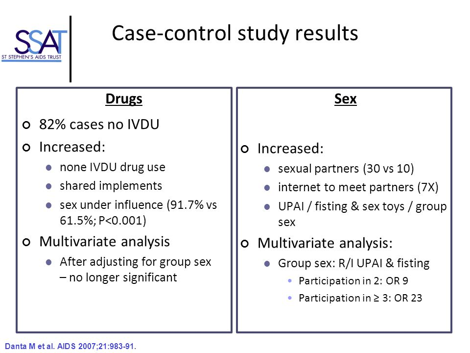 Case-control study results