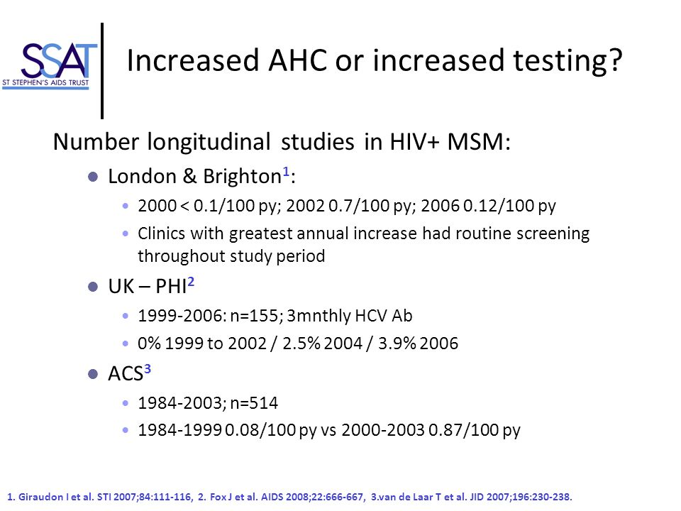 Increased AHC or increased testing