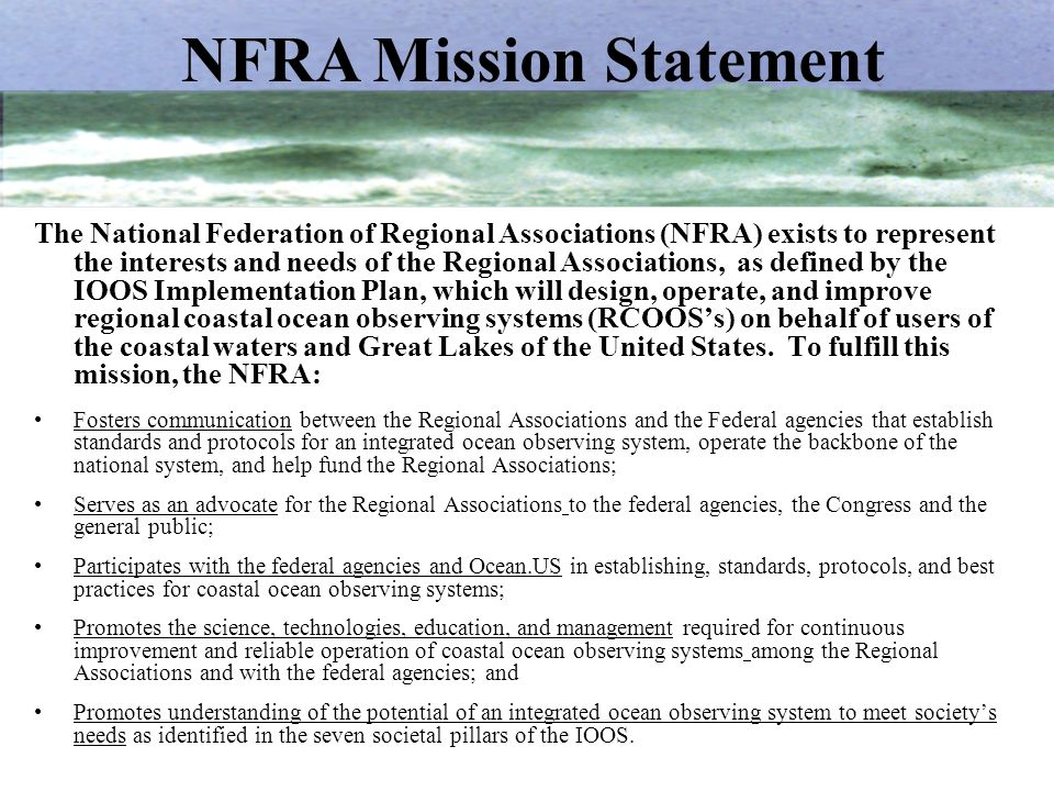 NFRA Mission Statement