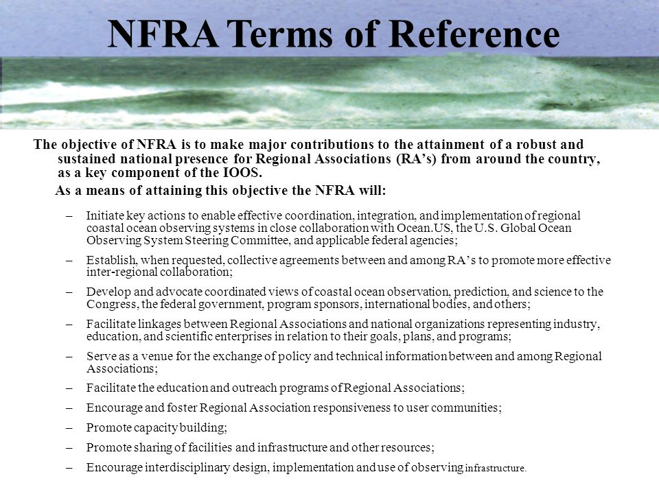 NFRA Terms of Reference