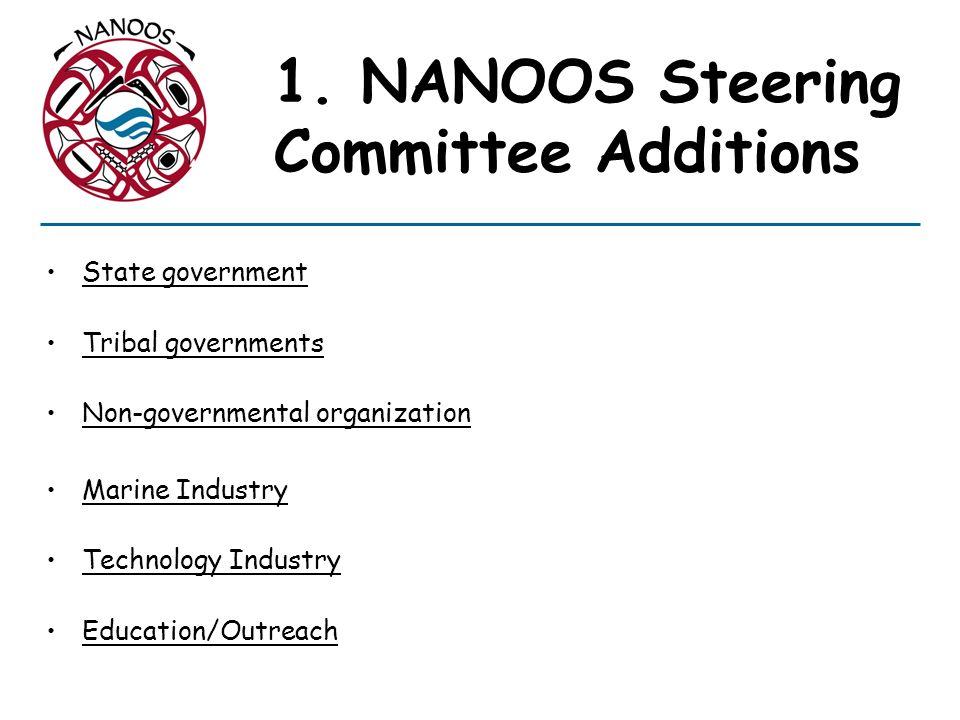1. NANOOS Steering Committee Additions