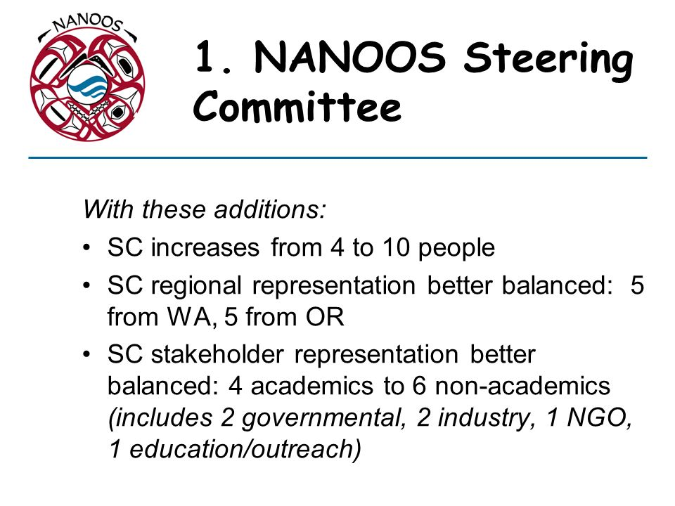 1. NANOOS Steering Committee
