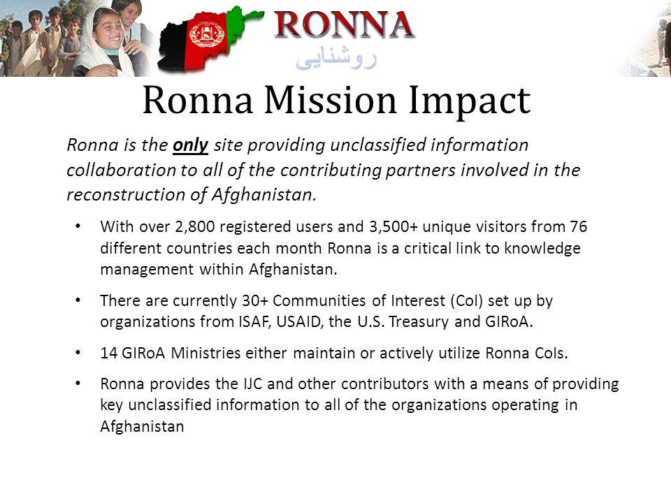 Ronna Mission Impact