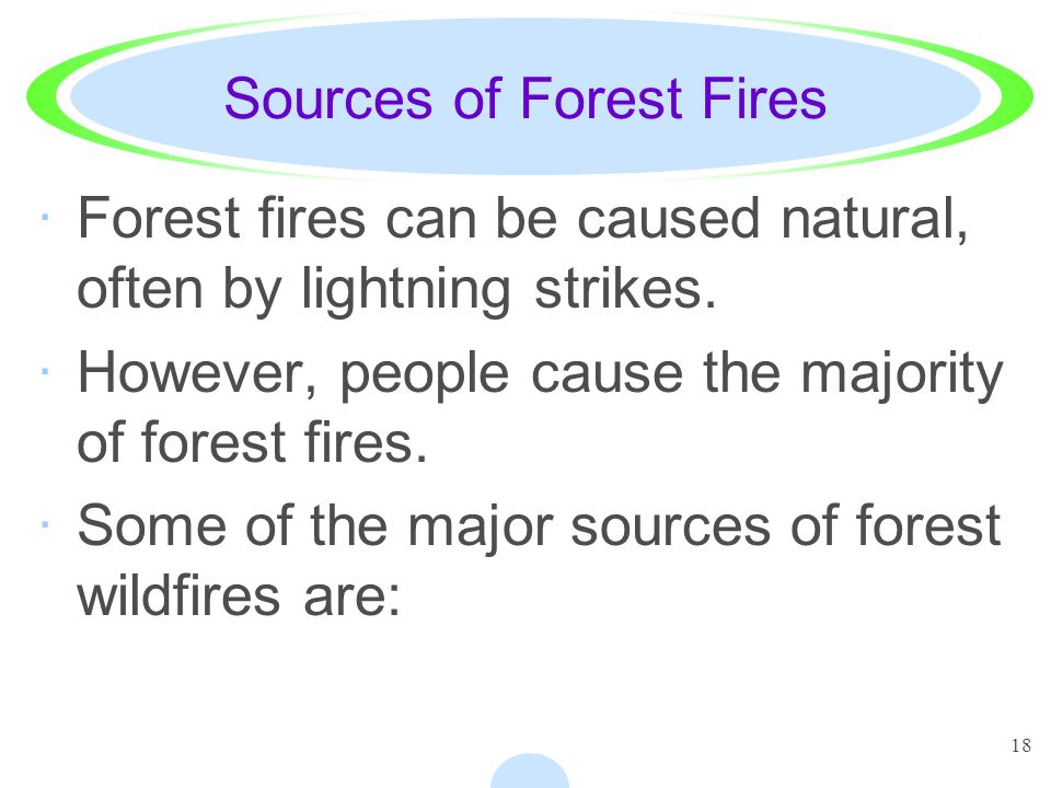 Sources of Forest Fires