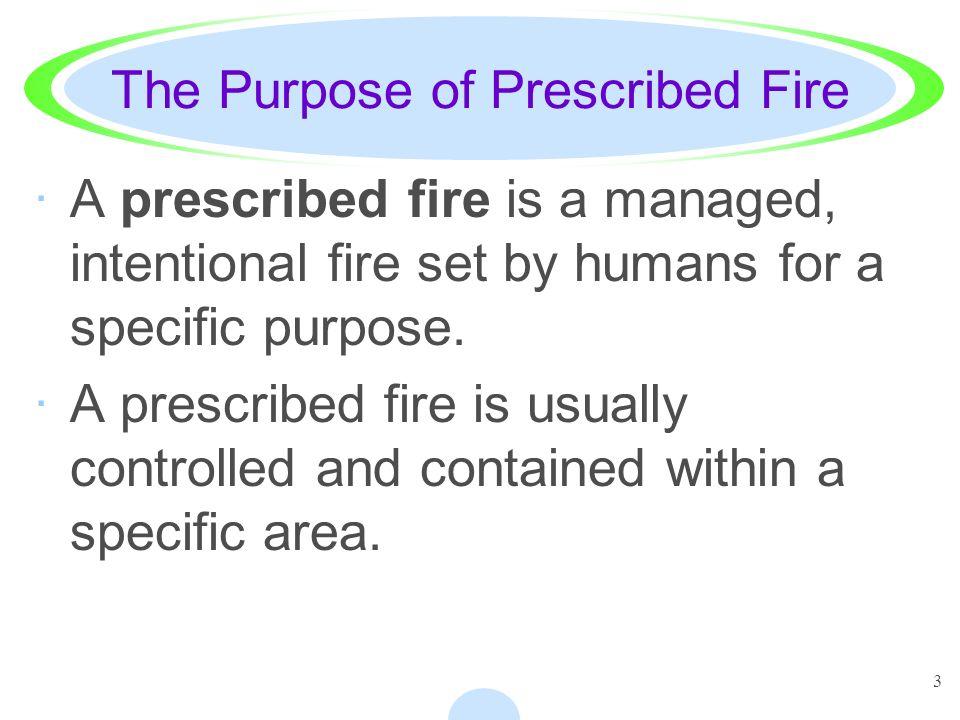 The Purpose of Prescribed Fire