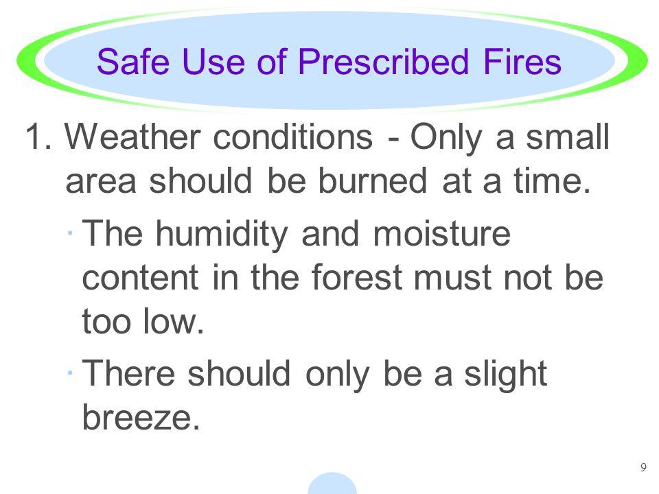 Safe Use of Prescribed Fires