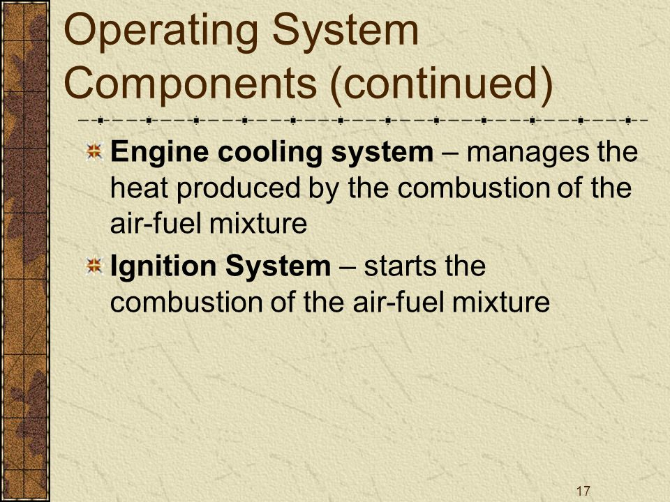 Operating System Components (continued)