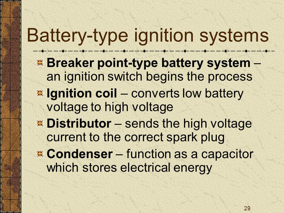 Battery-type ignition systems