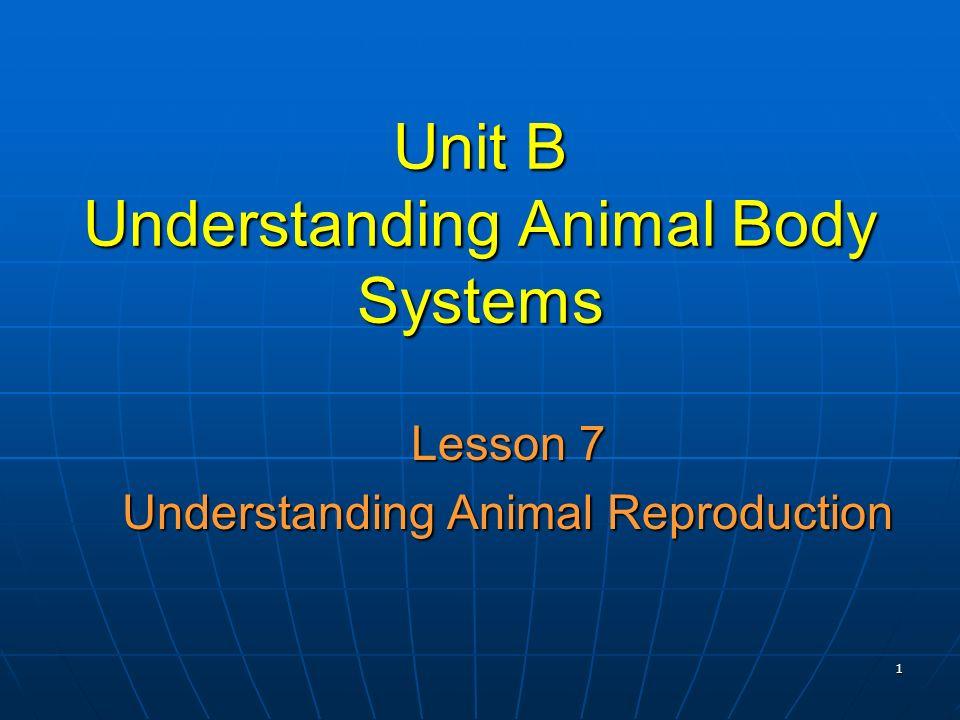 Unit B Understanding Animal Body Systems