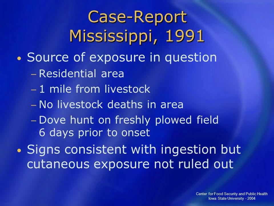 Case-Report Mississippi, 1991