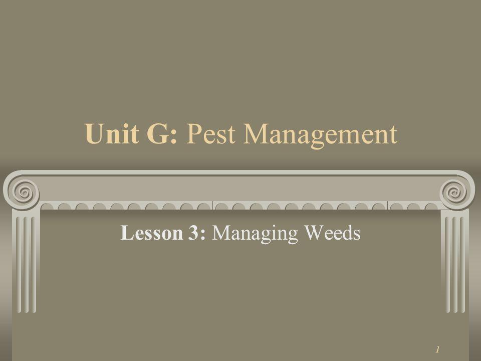 Unit G: Pest Management