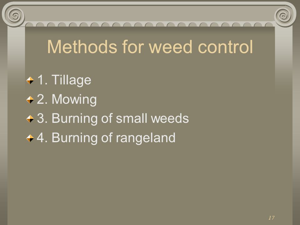 Methods for weed control