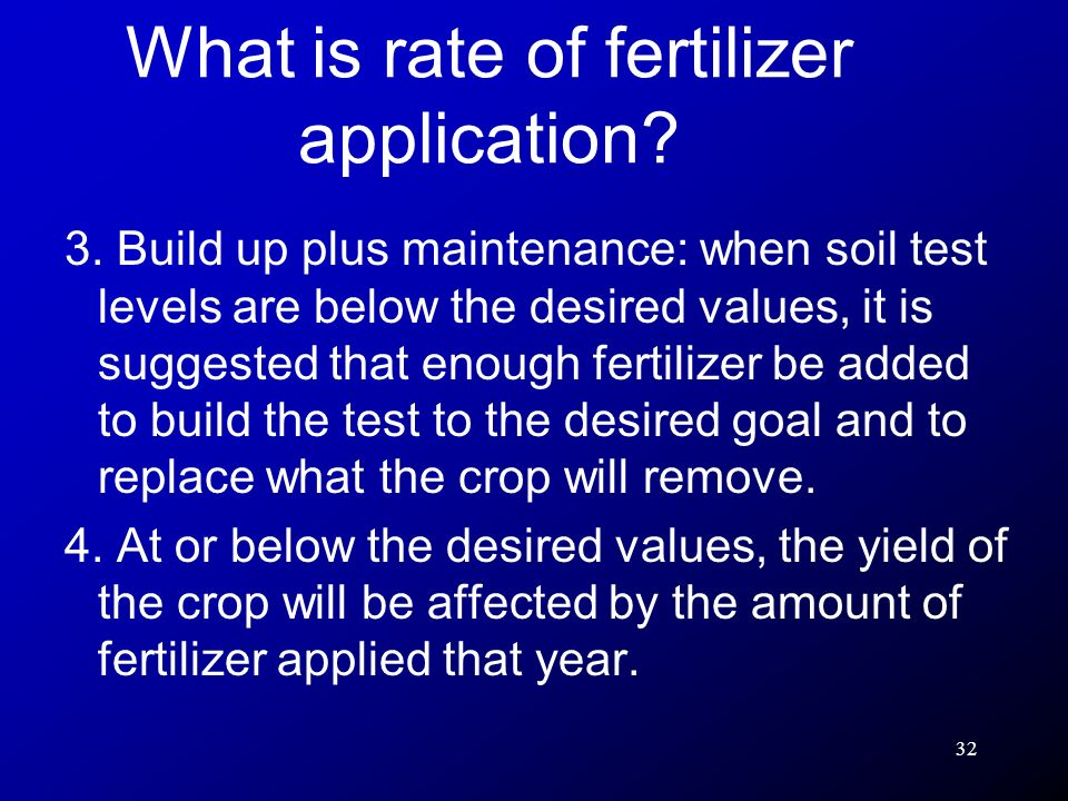 What is rate of fertilizer application