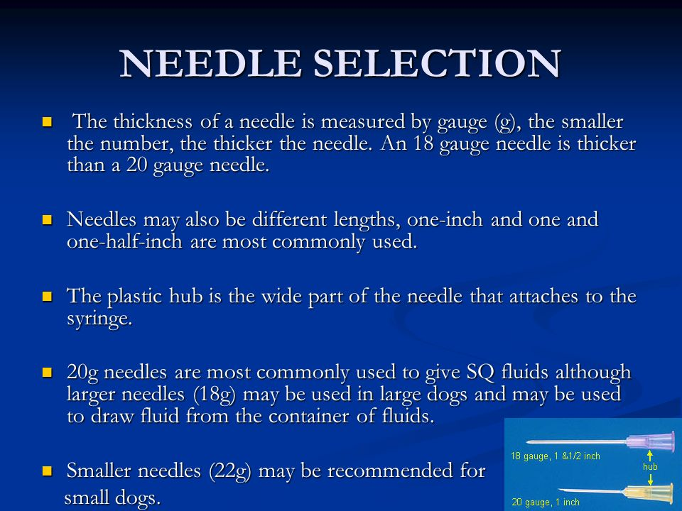 NEEDLE SELECTION