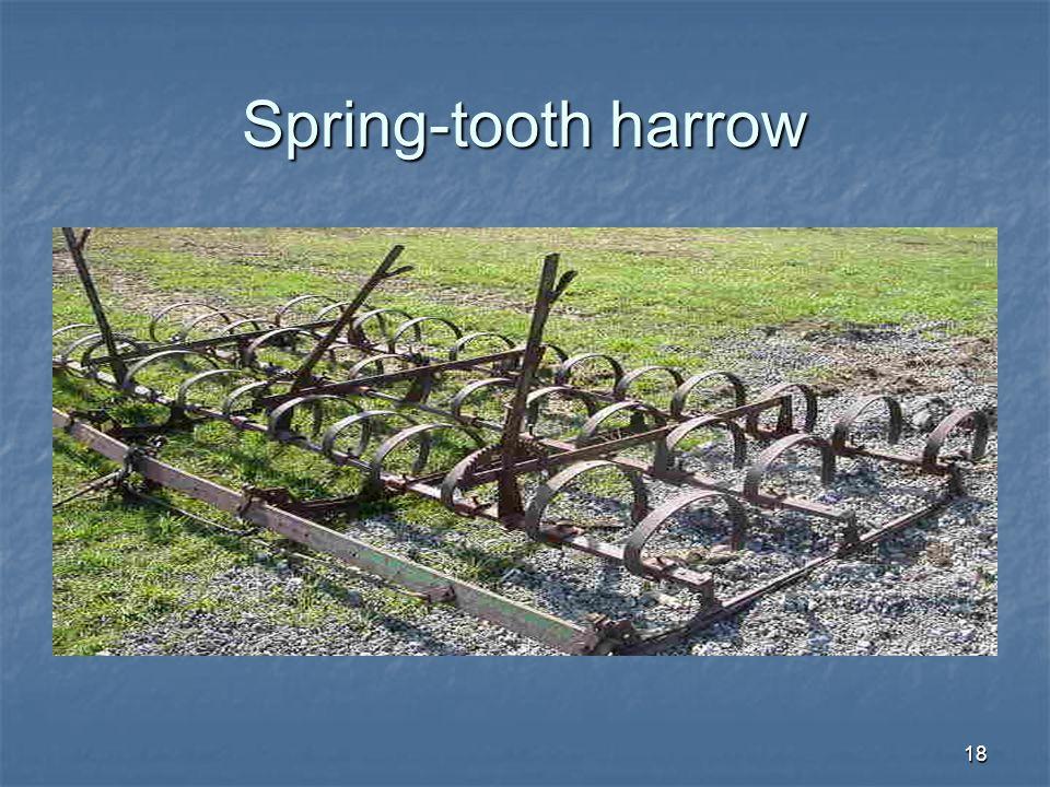 Spring-tooth harrow