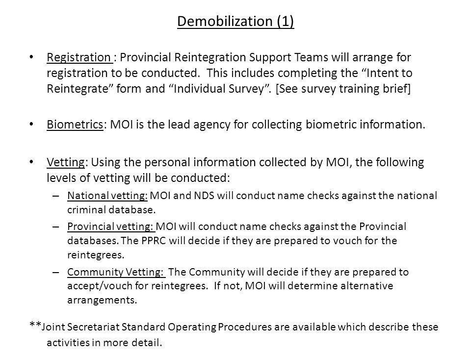 Demobilization (1)