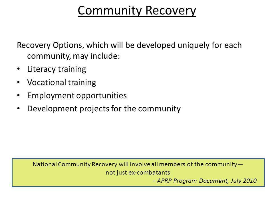 - APRP Program Document, July 2010