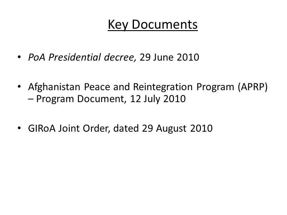Key Documents PoA Presidential decree, 29 June 2010