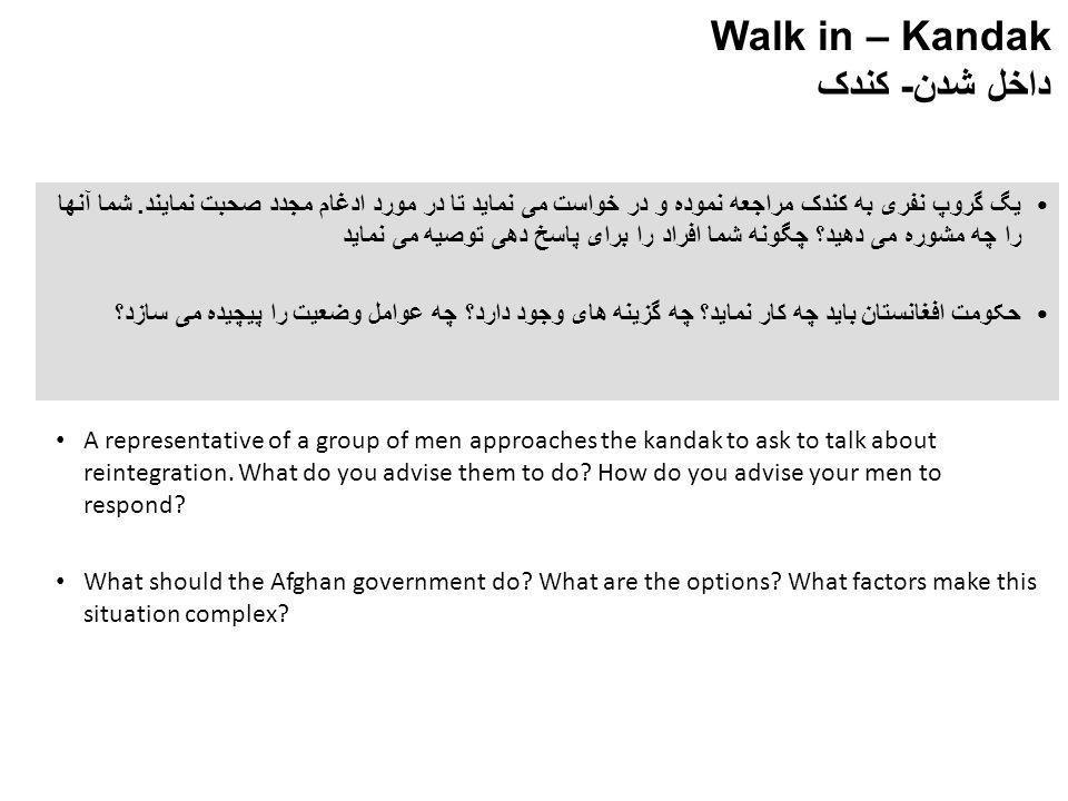 Walk in – Kandak داخل شدن- کندک